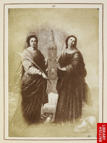 Murillo:  Sta. Rufina and Sta. Justa, patronesses of Seville. ([44-47:] From reduced copies in oil executed by Jos� Roldan 1840 and 1845.)