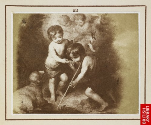 Murillo:  Our Lord and St. John Baptist, known as the Children of the Shell. (From a lithograph.)