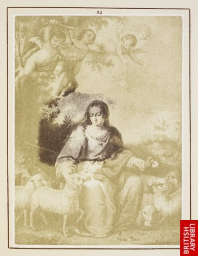 Alonso Miguel de Tobar:  The divine shepherdess. (From a lithograph.)