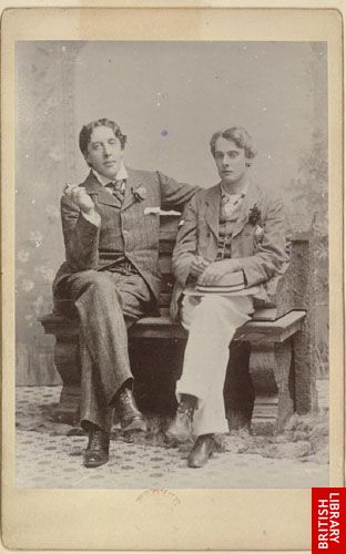 [Studio photograph of Oscar Wilde and Lord Alfred Douglas]