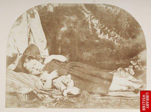 A sleeping child.