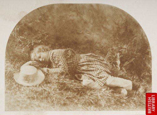 Asleep among the grass  Master Hope Finlay.
