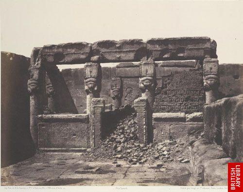 Dend�rah. Temple d'Ath�r. - Sanctuaire plac� � l'angle sud-ouest de la plate-forme inf�rieure.