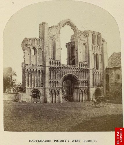 Castleacre Priory: west front.