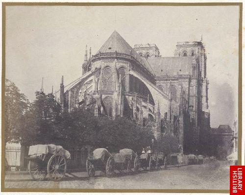 Abside de l'�glise de Notre Dame � Paris.
