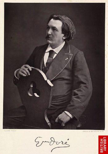 Portrait de Gustave Dor�.  (Clich� Nadar)   [Frontispiece]