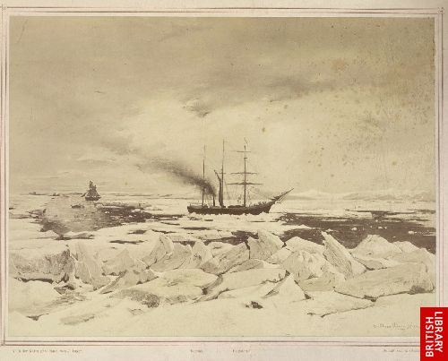 Trennung der Schiffe Tegetthof und Isbjorn, 21. August 1872.