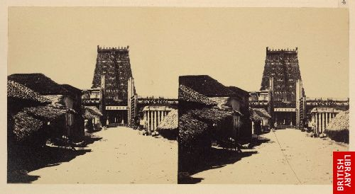 Approach to the Raya Gopuram [Madura].