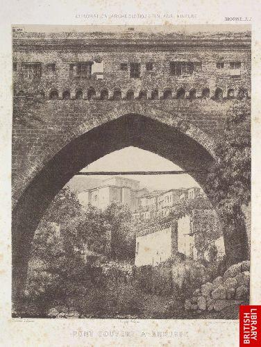 Pont couvert � Brousse.  (Brousse pl. 1.)