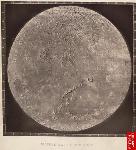 Picture map of the moon.  [Plate IV.]