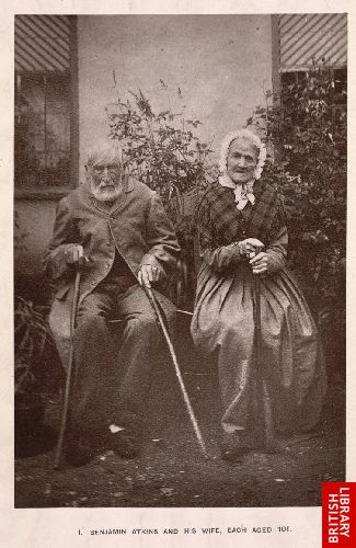 Benjamin Atkins and his wife, each aged 101.