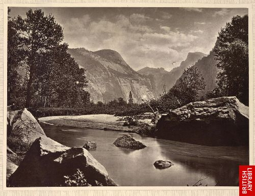 On the Merced, Yosemite valley, California.
