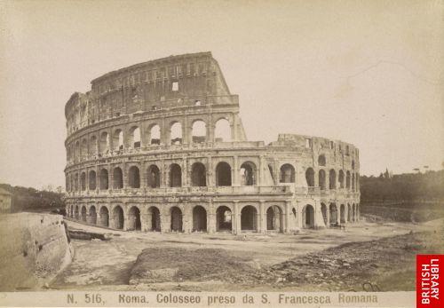 Roma. Colosseo preso da S. Francesco Romana.