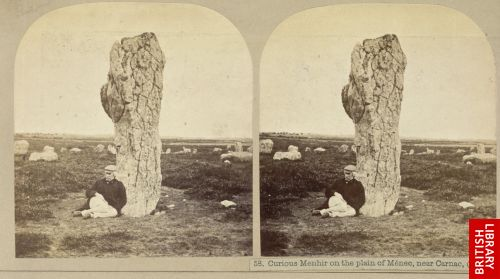 Curious menhir on the plain of M�nec, near Carnac.  (p. 205)