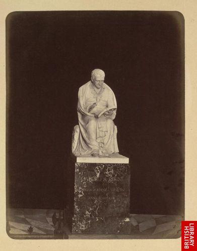 Upsala. Statue of Carolus Linn�us by Bystr�m.