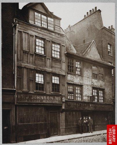 Old Houses in Drury Lane. 1876.