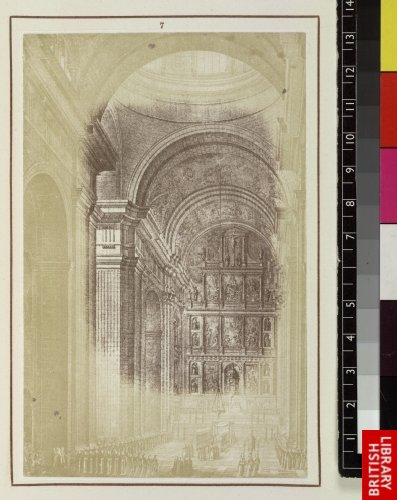 Juan de Herrera:  Interior of the church, looking towards the high altar.