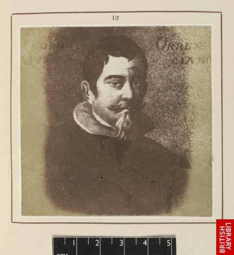 Pedro Orrente:  His portrait. (Louvre. From a drawing by M. Tessin.)