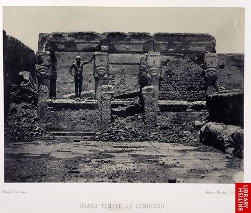 Grand temple de Dend�rah (Teutyres). Vue g�n�rale.