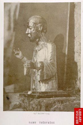 Saint Th�ofr�de. Buste en argent (abbaye du Monastier).