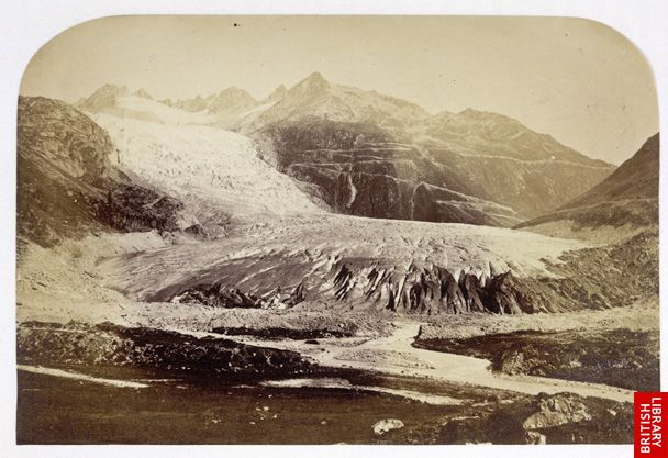 Upper ice fall of the Oberland Grindelwald glacier.   [Frontispiece]