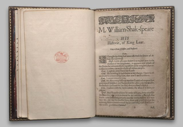 King Lear; 1608; pages 0,1