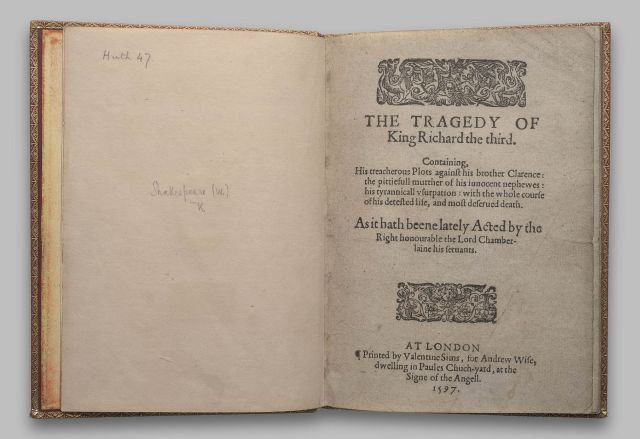 Richard III; 1597; pages -2,-1