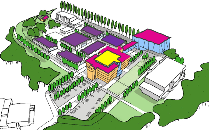 Drawing of British Library Boston Spa site.
