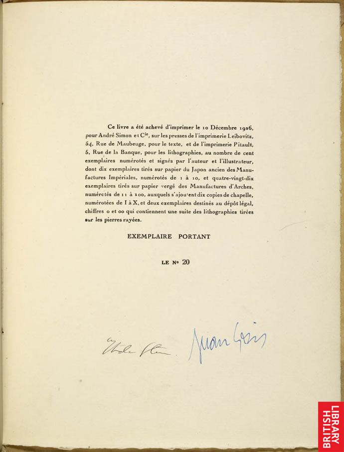 Gertrude Stein autograph