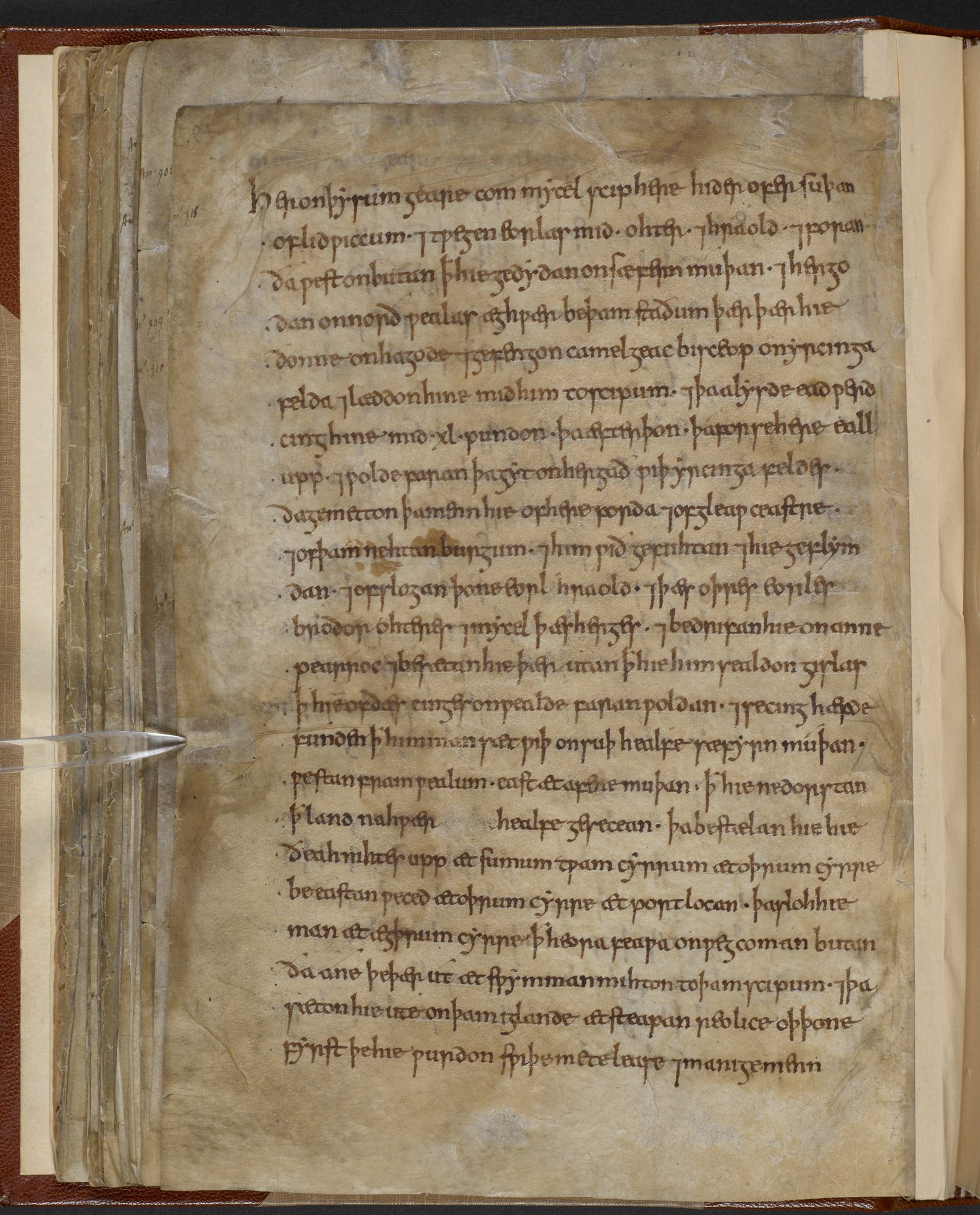 Page from Anglo-Saxon Chronicle B