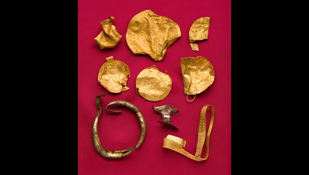 The Binham Hoard, a collection of gold jewellery dating from the 6th century.