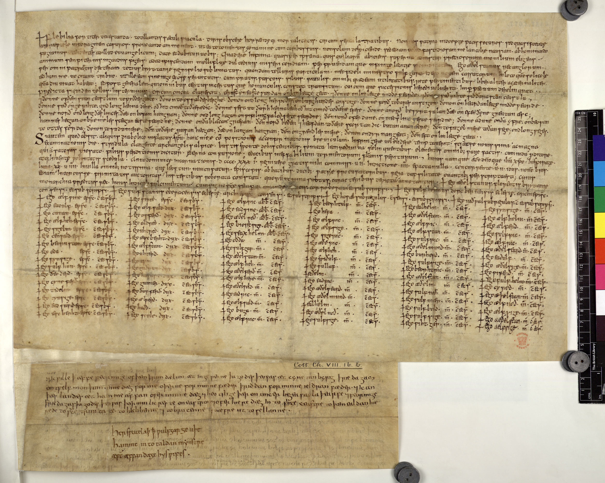 Charter of King Aethelstan