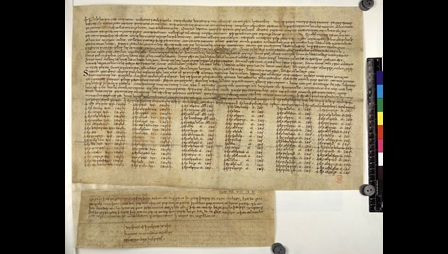 A 10th-century charter of King Æthelstan written in Old English.