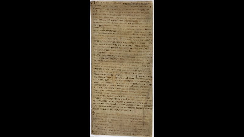 A 7th-century Anglo-Saxon charter, written in Latin on a single sheet of parchment.