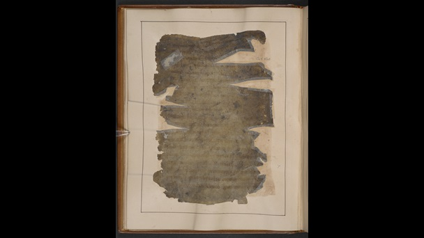 A fire-damaged page from a 10th-century manuscript of Gildas' Ruin of Britain.