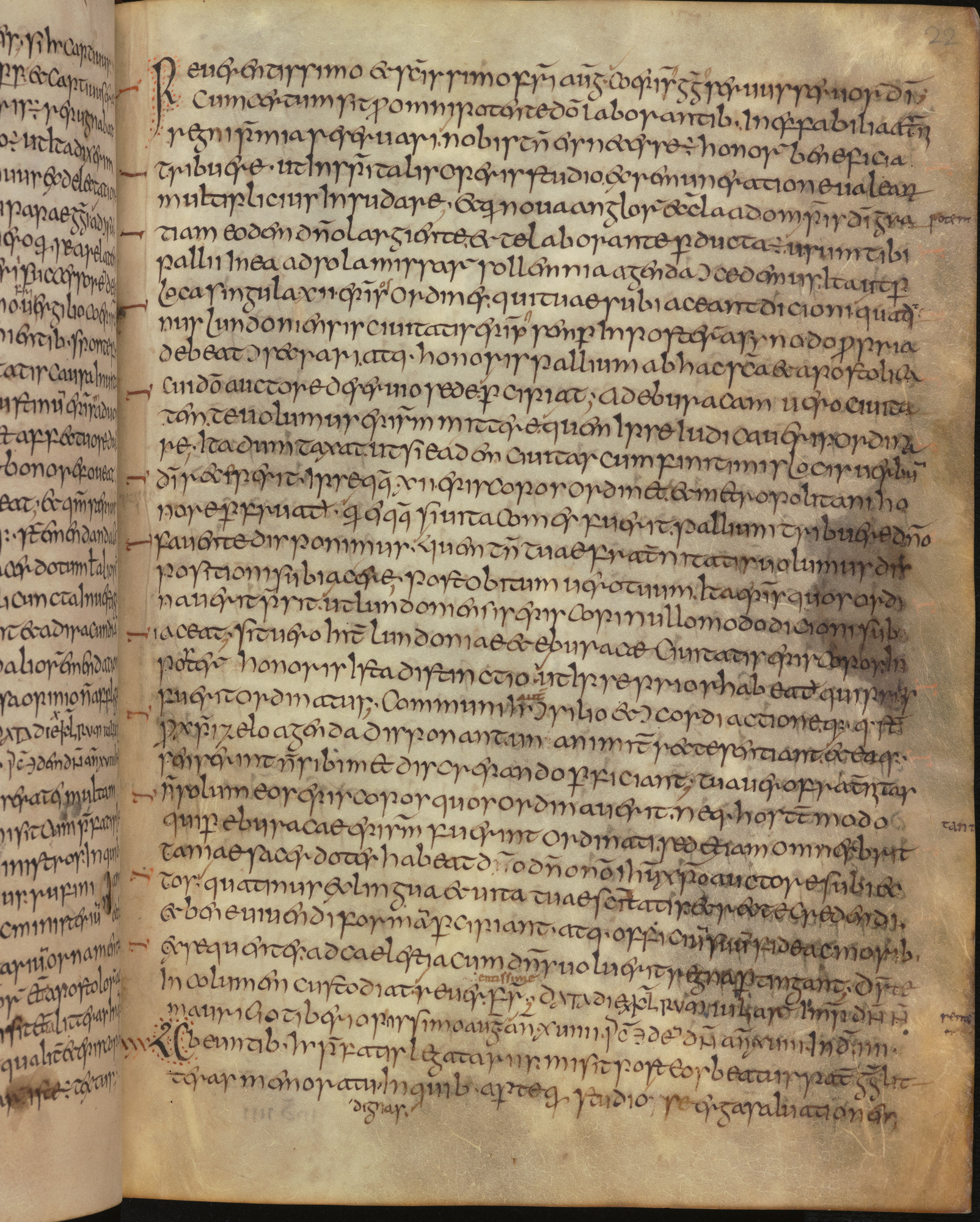 Page from an Anglo-Saxon manuscript