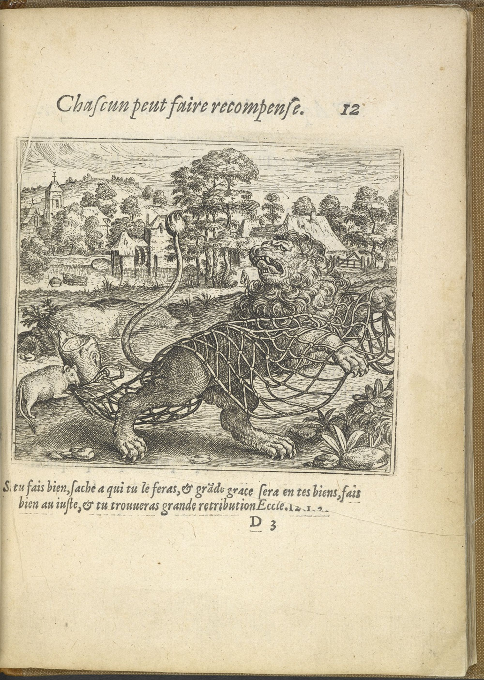 Illustration from Aesop's Fables, Esbatement moral des animaux, Anvers 1578 edition.
