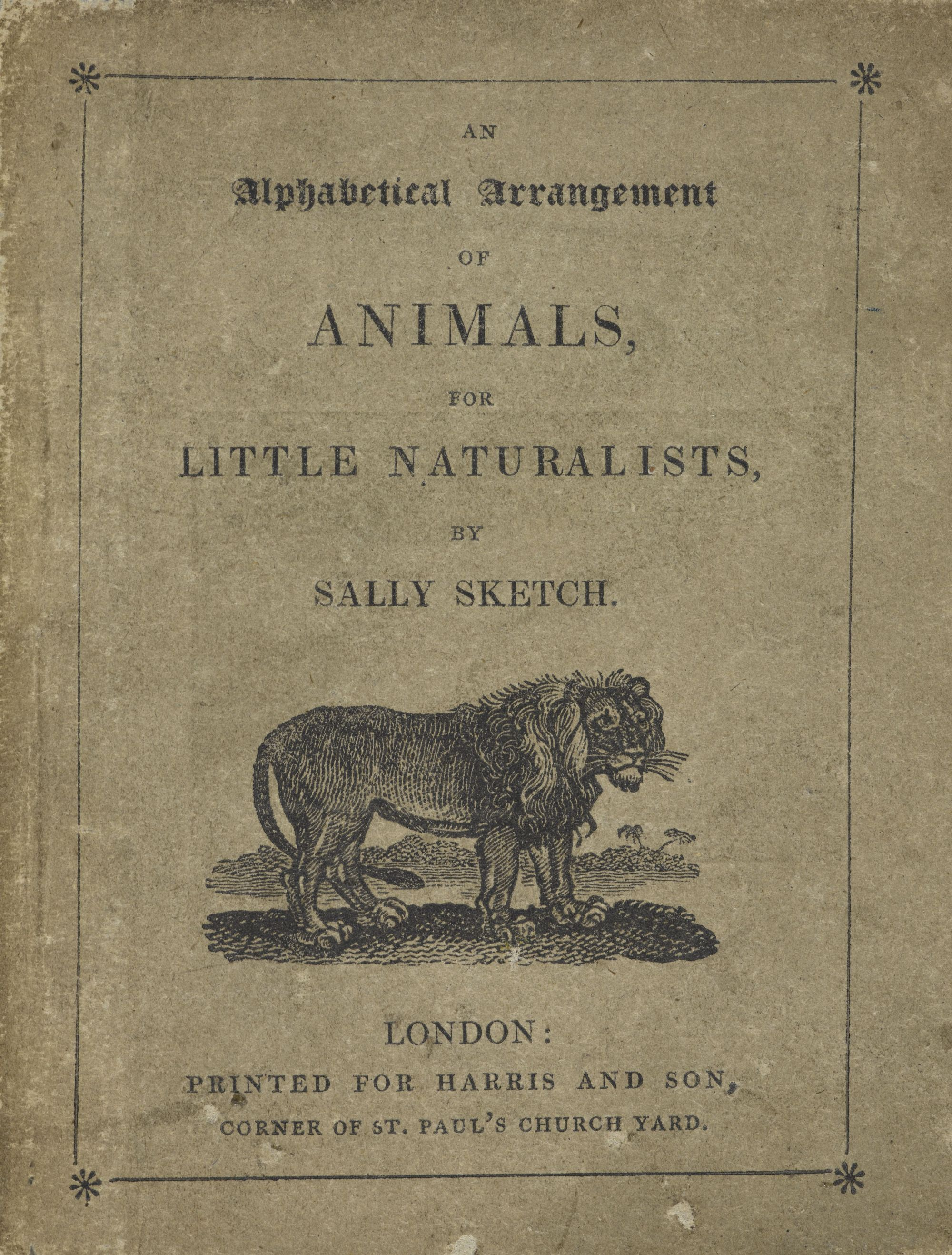 Cover page of Sally Sketch's Alphabet book for little naturalists