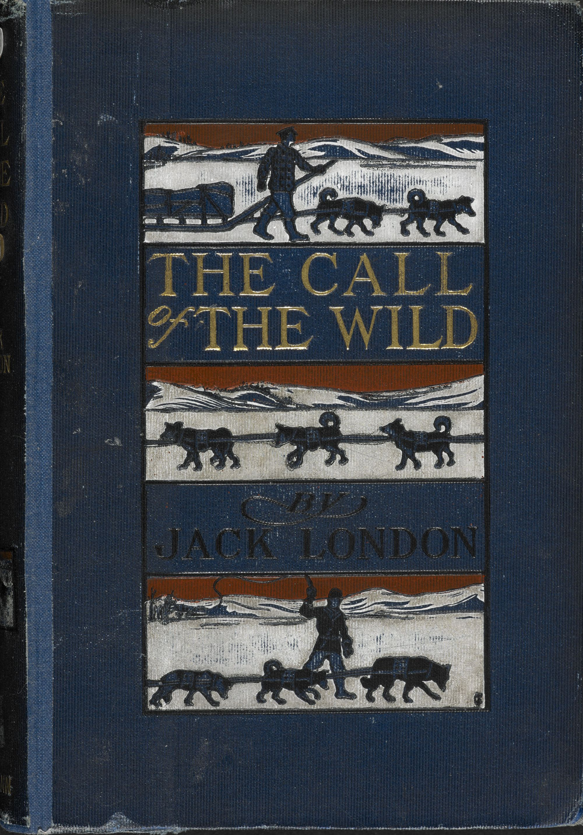 The cover of Jack London's 1903 edition of The Call of the Wild.