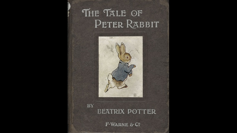 The cover of Beatrix Potter's 1902 edition of The Tales of Peter Rabbit.