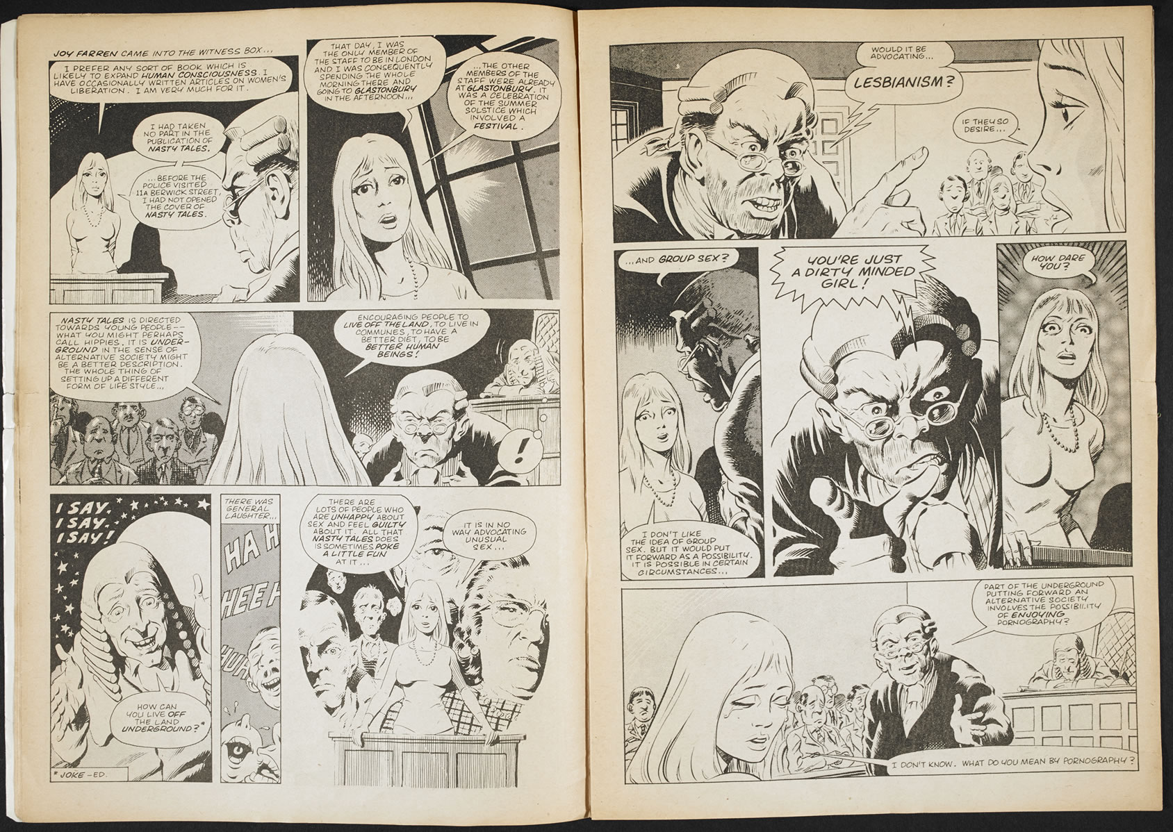 Trials of Nasty Tales, 1973, (c) Dave Gibbons