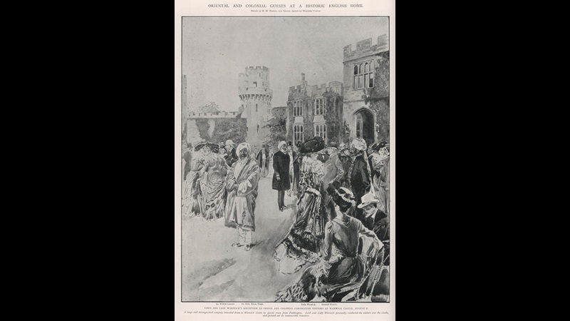 Print of Oriental Guests at a reception | Illustrated London News