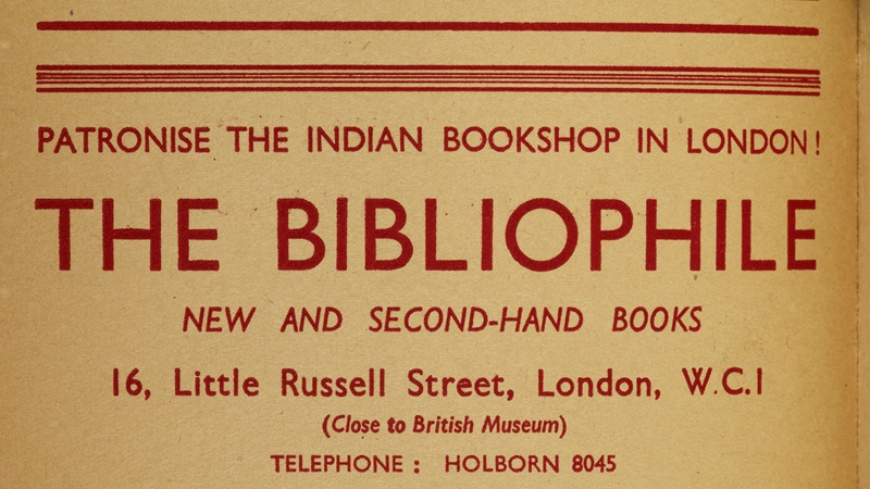 Culture thumbnail. Advertisement for the Bibliophile Bookshop