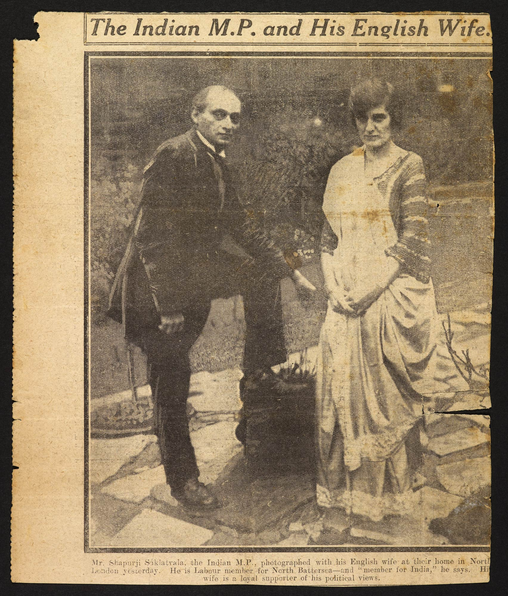 Photograph of Shapurji Saklatvala and his wife