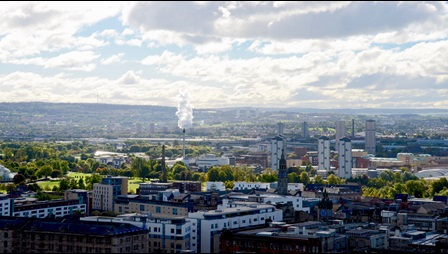 Aerial view of Glasgow