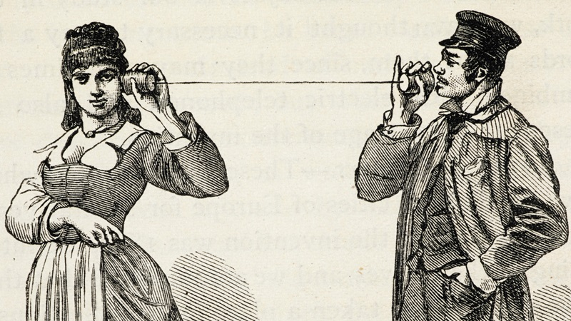Illustration of a man and woman