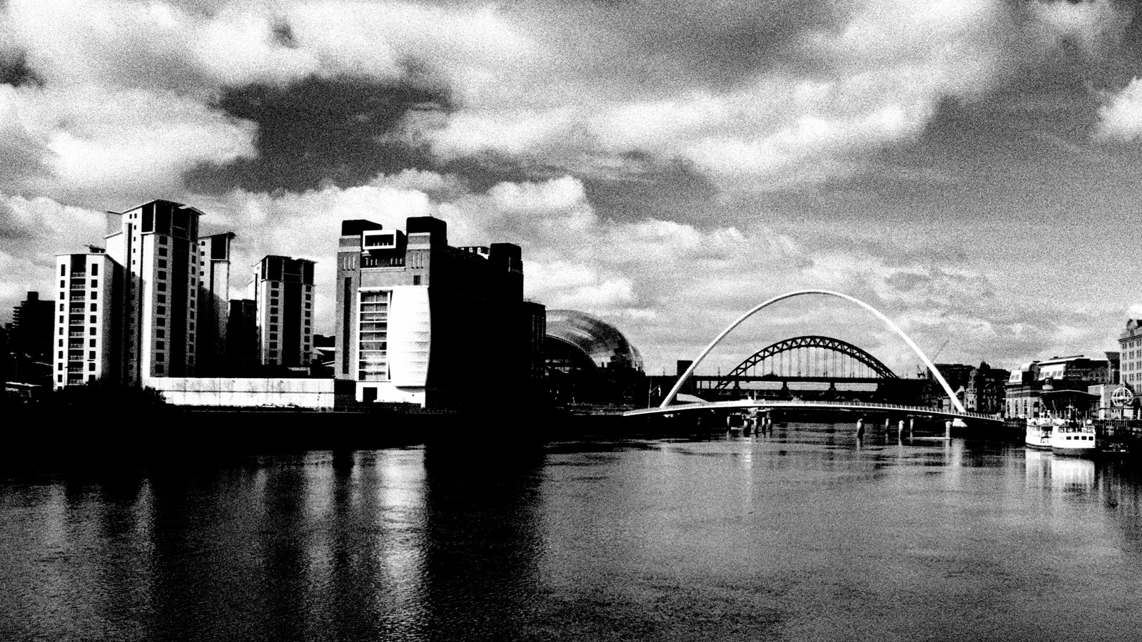 Black and white photograph of Newcastle