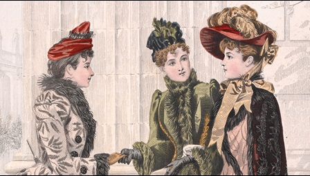 Illustrations of Victorian women