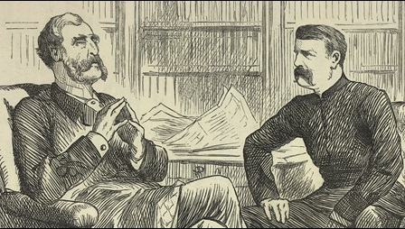 19th-century illustration of two men