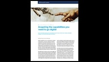 Acquiring the capabilities you need to go digital